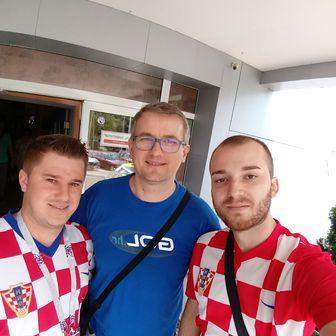 Novinar GOL.hr-a Ivica Medo s hrvatskim navijačima (GOL.hr)