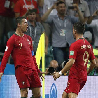 Cristiano Ronaldo slavi pogodak (Foto: AFP)