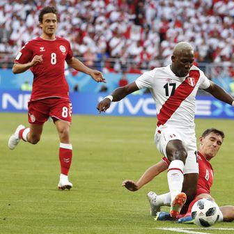 Peru - Danska (Foto: AFP)