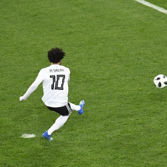 Mohamed Salah zabija gol (Foto: AFP)