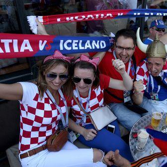 Hrvatski navijači (Foto: Igor Kralj/PIXSELL)