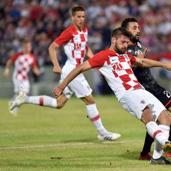 Petković zabija gol (Foto: Vjeran Zganec Rogulja/PIXSELL)