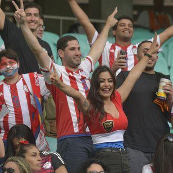 Larissa Riquelme navija za Paragvaj (Foto: AFP)