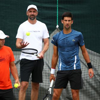 Goran Ivanišević na treningu s Novakom Đokovićem (Foto: Clive Brunskill/Getty Images)