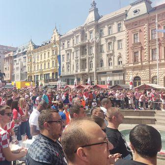 Hrvatski navijači u Zagrebu
