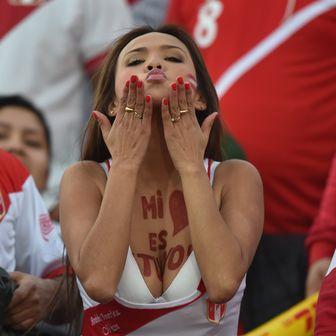 Nissu Cauti, muza peruanske reprezentacije (Foto: AFP)
