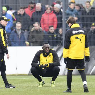 Usain Bolt na treningu Borussije Dortmund (Foto: AFP)