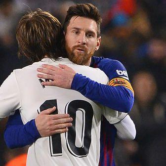 Luka Modrić i Leo Messi (Foto: AFP)