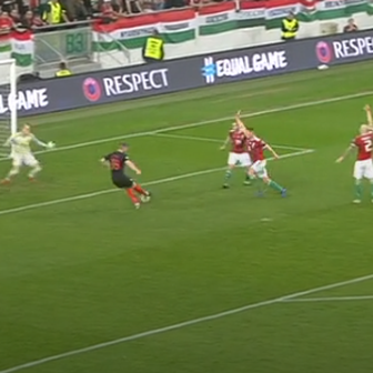 Rebić zabija gol Mađarskoj za 1:0