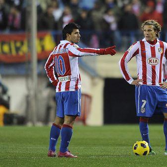 Sergio Aguero i Diego Forlan u dresu Atletica (Foto: AFP)