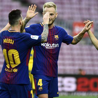 Messi, Rakitić i Iniesta (Foto: AFP)