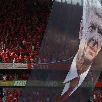 Slika u čast Wengera (Foto: AFP)
