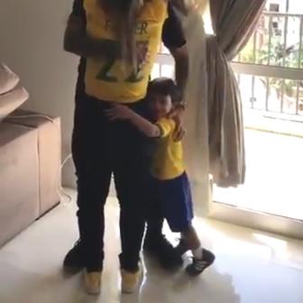 Fagner slavi s obitelji poziv na Svjetsko prvenstvo (Screenshot Twitter)