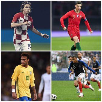 Luka Modrić, Cristiano Ronaldo, Neymar i Kylian Mbappe (Foto: AFP)
