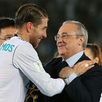 Sergio Ramos i Florentino Perez (Foto: AFP)