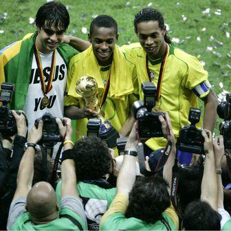 Kaka, Robinho i Ronaldinho (Foto: AFP)