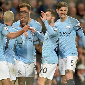 Manchester City slavi pogodak (Foto: AFP)