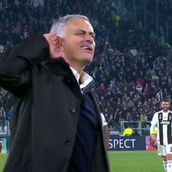Jose Mourinho provocira navijače Juventusa (Screenshot)