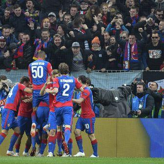 Igrači CSKA slave Vlašićev pogodak Realu (Foto: AFP)