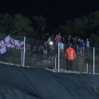 Engleski navijači kraj Rujevice (GOL.hr)