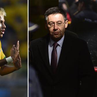 Neymar i Josep Maria Bartomeu (Foto: AFP)