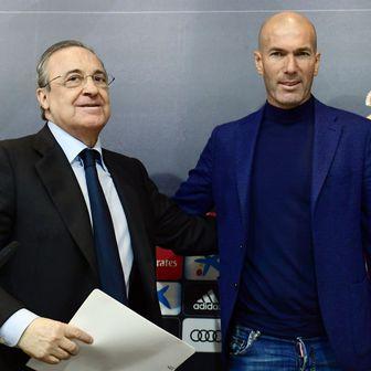 Florentino Perez i Zinedine Zidane (Foto: AFP)