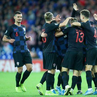 Slavlje hrvatskih nogometaša (Foto: Sanjin Strukic/PIXSELL)