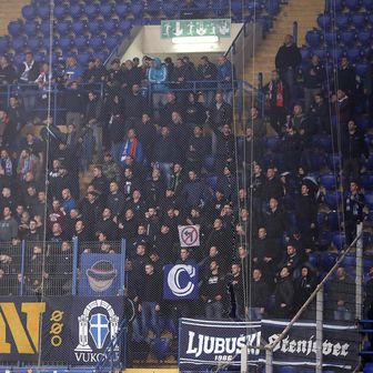 Navijači Dinama u Harkivu (Foto: Goran Stanzl/PIXSELL)