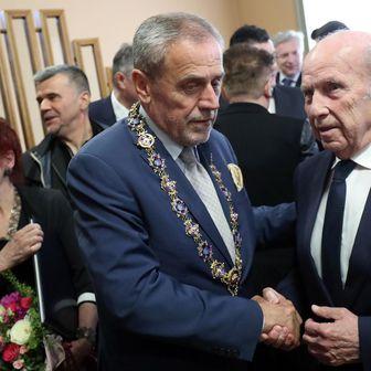 Milan Bandić i Mirko Barišić (Foto: Goran Stanzl/PIXSELL)