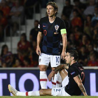 Luka Modrić i Šime Vrsaljko (Foto: AFP)