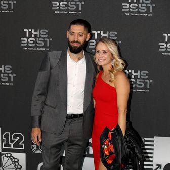 Clint Dempsey sa suprugom Bethany (Foto: Tim Goode/Press Association/PIXSELL)