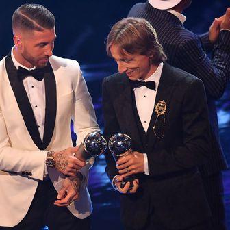 Sergio Ramos i Luka Modrić (Foto: AFP)