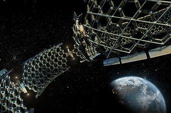 Solarana elektrana u svemiru, ilustracija