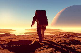 Astronaut na nepoznatom planetu