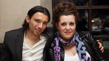 Danijel Pranjić sa suprugom (FOTO: Alexandra Beier/DPA/PIXSELL)