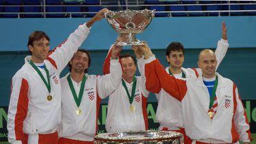 Hrvatska reprezentacija, osvajač Davis Cupa 2005. (Foto: AFP)