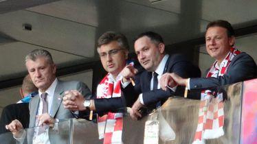 Davor Šuker, Andrej Plenković, Marijan Kustić i Gordan Jandroković