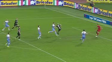 Riccardo Saponara postiže izjednačujući pogodak protiv Lazija (Foto: AFP)