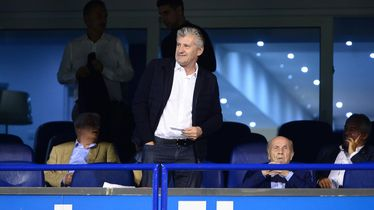 Davor Šuker i Mirko Barišić u glavnoj Dinamovoj loži