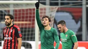 Federico Chiesa slavi pogodak Milanu