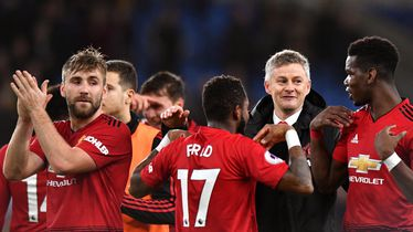 Ole Gunnar Solskjaer i igrači Manchester Uniteda