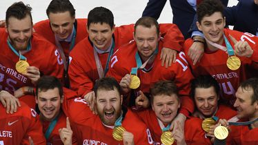 Ruski hokejaši slave zlato na Olimpijskim igrama