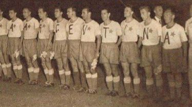 Hajduk na gostovanju kod Boce Juniors 1953.