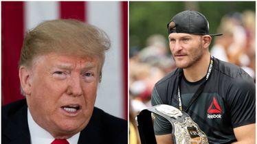Trump i Miočić (Foto: AFP)