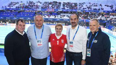 Kolinda Grabar-Kitarović na vaterpolo utakmici