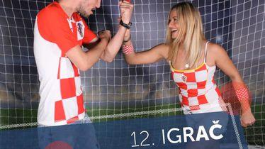 Pobjednička fotka 12. igrač hrvatske reprezentacije protiv Francuske