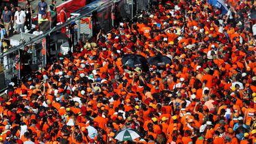 Nizozemski navijači slave pobjedu Maxa Verstappena u Austriji