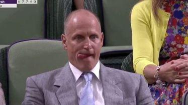 Woody Harrelson na finalu Wimbledona