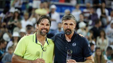 Patrick Rafter i Goran Ivanišević (Foto: Goran Stanzl/PIXSELL)