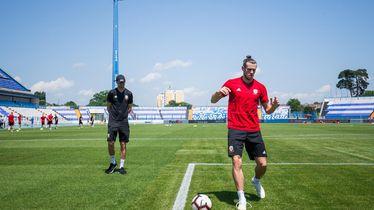 Gareth Bale na treningu u Osijeku